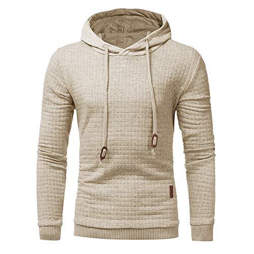 (MIRRAY Herren Langarm Kordelzug Hoodie mit Kapuze Sweatshirt Tops Jacke Mantel Outwear)