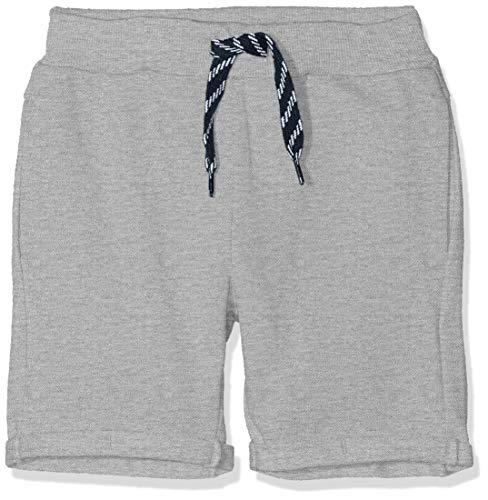 NAME IT Jungen NMMVASSE SWE Long UNB J Shorts, Grau (Grey Melange), (Herstellergröße: 104)