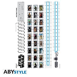 ABYstyle abydco162 Star Wars - Medidor Adhesivo (100 x 70 cm), diseño de Espada láser