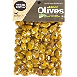 Urban Platter Chalkidiki Variety Green Olives with Wild Oregano, 500g / 17.6oz [Unpitted, Premium Quality, Produced in Greece]