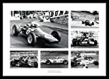 Framed British Grand Prix Legends - Formula One Photo Memorabilia