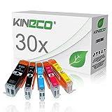 30 Tintenpatronen kompatibel zu PGI-550XL CLI-551XL für Canon Pixma MX925 All-in-One, Pixma iP7250, Pixma iX6850 A3+, Pixma MG5650, Pixma MG7550, MG6450, MG6650, MG7150 - mit Chip und Füllstandsanzeige - Schwarz je 23ml, Color je 15ml