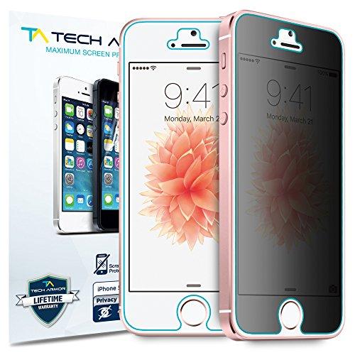 Tech Armor   Protector de pantalla de privacidad 360° para iPhone 5 / 5c / 5s de Apple, Tecnología 4 Way