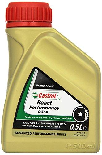 Castrol React Performance DOT 4 Liquide de frein, 500mL