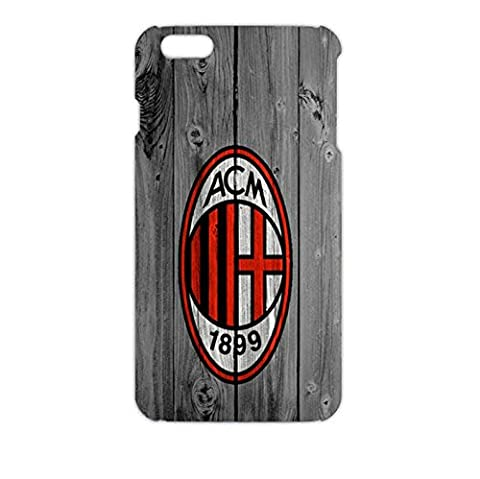 Retro Style 3D Associazione Calcio Milan Phone Case for Iphone 6 Plus 5.5 inch AC Milan Logo