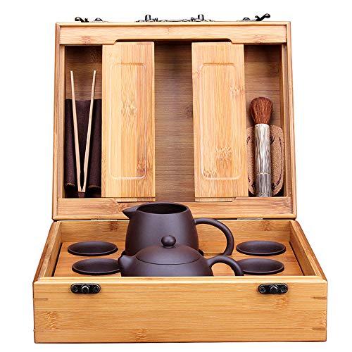 Handmade Teapot,Purple Sand Pot,Retro Chinese Teapot Set,Suitable for 6 People,Teapot Sets Chinese Handmade Yixing Teapot Healthy Purple Clay Teapot,B