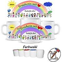 Tasse für die Erzieherin mit Herz / Danke für alles / Personalisierbar mit dem Namen des Kindes, der Gruppe und der Erzieherin / GESCHENKIDEE ERZIEHER/IN