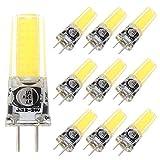 Grv GY6,35 COB 2508 4 W DC12 ~ 24 V Schrank LED Silikon Licht Kristall 35 W Leuchtmittel Halogen Track Ersatz, cool white, 10er-Pack 4.00 watts 12.00 volts