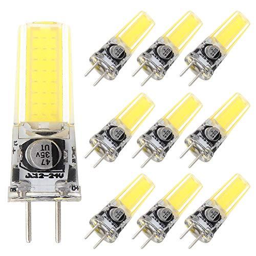 Grv GY6,35 COB 2508 4 W DC12 ~ 24 V Schrank LED Silikon Licht Kristall 35 W Leuchtmittel Halogen Track Ersatz, cool white, 10er-Pack 4.00 watts 12.00 volts -