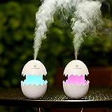 100 ML USB humidificador de aire fresco Funny huevo de Pascua diseño Aroma Cool Mist Ultrasonido portátil difusor para casa de oficina Travel Car Dormitorio blanco