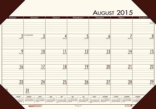 House of Doolittle Eco Tone Academic Schreibtischauflage Kalender, 2015 - 2016 Akademisches Jahr, Creme, 13 x 18,5 Zoll (HOD012541-16) (Desktop-kalender 2015)