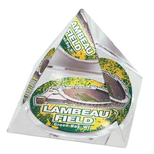 NFL Green Bay Packers Lambeau Field in 5,1cm Kristall Pyramide mit bunten verglaste Geschenkbox