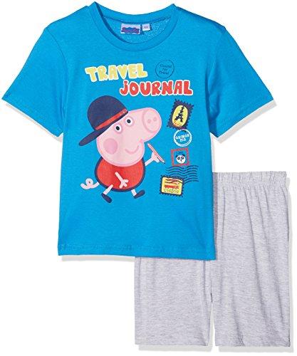 Peppa Pig Jungen Zweiteiliger Schlafanzug George, Blau, 128