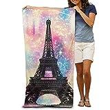 DEFFWBb Beach Towel Paris Eiffel Tower Polyester Velvet Beach Towels 31.551.2 Inch