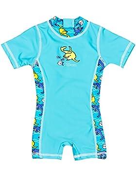 Landora Baby-/Kleinkinder-Badebekleidung Einteiler mit UV-Schutz 50+ und Oeko-Tex 100 Zertifizierung in blau oder...