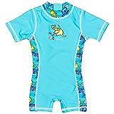 Landora Baby-Badebekleidung Einteiler mit UV-Schutz 50+ und Oeko-Tex 100 Zertifizierung in türkis; Größe 110/116