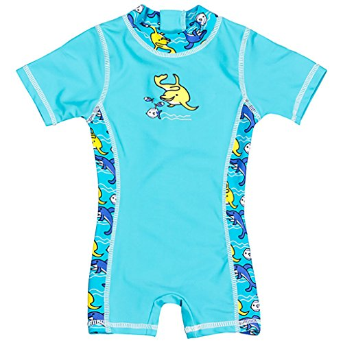Landora® Baby-Badebekleidung Einteiler mit UV-Schutz 50+ und Oeko-Tex 100 Zertifizierung in türkis; Größe 62/68