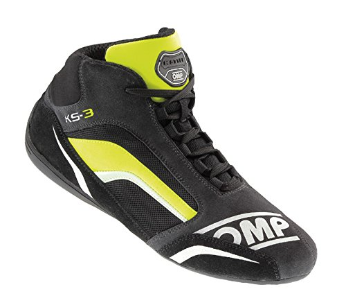 OMP KS-3 OMP IC/813 KS3 Kart Boots Wildleder in 3 Farben, Grey/Black/Yellow, 45 (UK 10.5)