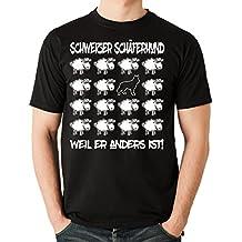 Siviwonder Unisex T-Shirt BLACK SHEEP - SCHWEIZER SCHÄFERHUND weisser - Hunde Fun Schaf