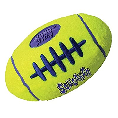 KONG Air Dog Squeaker Football Dog Toy, Large by KONIF