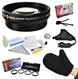 Best Value Accessory Lens Kit Bundle for the Canon PowerShot G10 G11 G12 Digital Camera - Kit Includes Opteka 2x High Definition² Telephoto Lens + Opteka HD Close-Up Set (+1, +2, and +4) with Macro Lens + Opteka GS-2 Leather Stabilizing Hand Grip Strap + Microfiber LCD Photo Cleaning Glove + Tube Adapter + Opteka 10 Peice Deluxe Digital Camera Lens Cleaning Kit