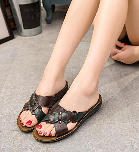 Casual Hausschuhe Sandalen große Yards Black
