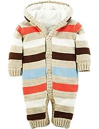 MNBS Peleles bebe invierno raya encapuchado Suéter sweater abrigos bebe niño ninas sudaderas suéter ropa