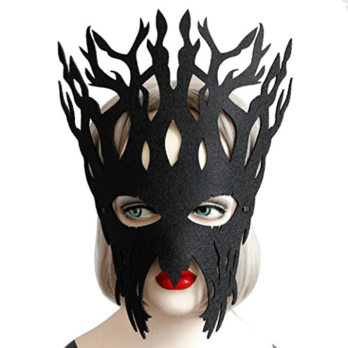 Stadt Party Mädchen Für Kostüme Halloween (WOCACHI Party Masken reizvolles elegante geheimnisvolle Gesichtsmaske für Maskerade Ball Karneval Fantasie Party (27*22cm,)