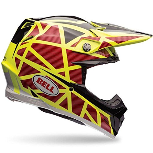 Bell Helme MX 2017moto-9Flex Erwachsene Helm, fixiert gelb/rot, Größe XL
