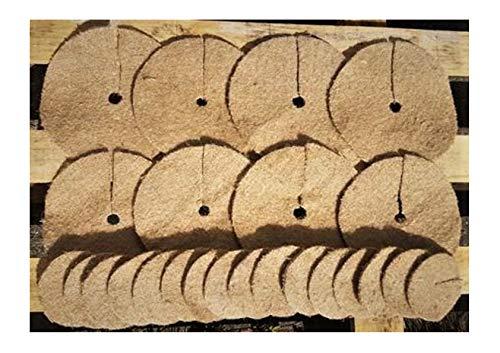 Lot de plusiers Tapis de toile de jute contre les mauvais herbes 20cm et 10cm