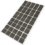 50 x Filzgleiter | 20x20 mm | Braun | rund | selbstklebende Möbelgleiter in Top-Qualität von Adsamm