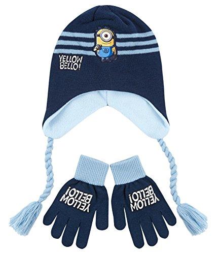Minions Despicable Me Ragazzi Confezioni 2 pezzi: berretto e guanti - blu - 54