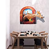 OHQ Giraffe Wandaufkleber PVC Abnehmbare Kunst Zimmer Haunted Abziehbild Dekor