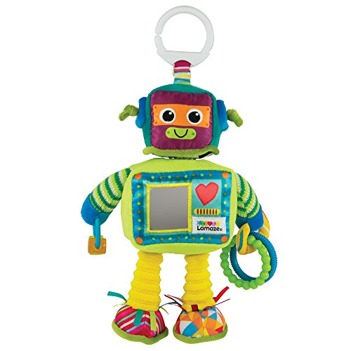 """TOMY Lamaze Baby Spielzeug """"Rusty, der Roboter"""" Clip & Go – Hochwertiges Kleinkindspielzeug – Greifling stärkt Eltern-Kind-Bindung – Ab 0 Monate"""