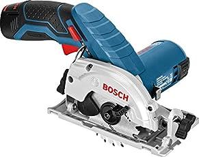 Bosch Professional Akku-Kreissäge GKS 12 V-26 (12 Volt, Sägeblatt-Ø: 85 mm, Leerlaufdrehzahl: 1400 min-1, in L-Boxx)