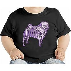Skelet Of A Pug Camiseta orgánica bebés 3-6 Months