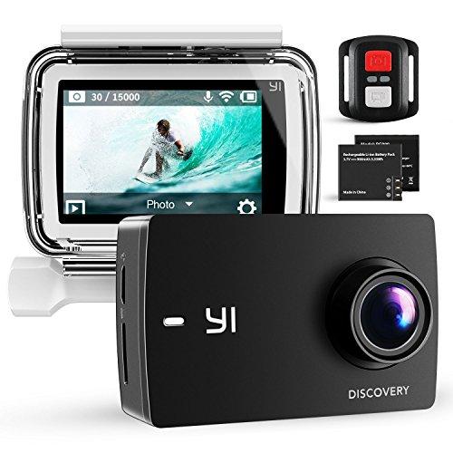 """YI Discovery 4K Caméra Sport 8MP WiFi 2.0"""" LCD Tactile avec Télécommande Caisson Etanche 40M 2 Batteries Rechargeables 150° Grand Angle Caméra Sportive"""