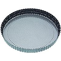 Kitchen Craft KCMCCB40 Plat Quiche, acier au carbone, gris, 28 x 28 x 18 cm