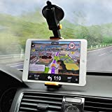 LR ENTERPRISES Car Cradle For Mobile Phones,Tablets And I Pads - Universal Windshield 360 Degree Swivel Mobile Phone Holder For All GPS Devices- [ Assorted Color]