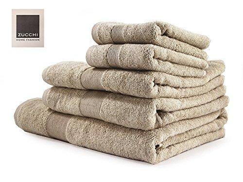 Zucchi set asciugamano 5 pezzi home fashion corda + tavoletta profumo biancheria per armadi by biancocasa
