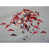 Every-occasion-party-supplies HAPPY 40TH ANNIVERSARY CONFETTI WITH WHITE DOVES