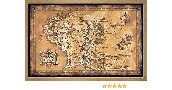 Elbenwald Seigneur des Anneaux Planche /à d/écouper Carte de la Terre du Milieu 42x26x2cm h/être