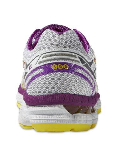 Asics GT-2000 2, Chaussures de Running Compétition Femme - White/Blazing Yellow/Orchid