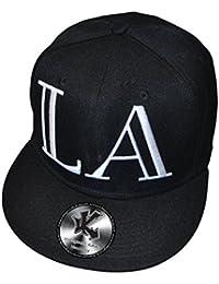 LA Los Angeles Lamar Noir Casquette de Baseball Réglable Noir (Broderie 3D) Snapback