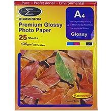 Papel A4 135gm (Adhesivo Premium Glossy Photo Professional Finalizar) 25 Paquete de hoja (210 x 297 mm) iCHOOSE
