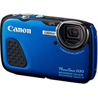Canon PowerShot D30 Point and Shoot Digital Camera (12.1MP, 5x Optical Zoom)