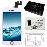 Ecran LCD iPhone 5S Blanc - Kit Réparation Trop Saint  Ecran Complet avec Notice, Tapis de Repérage Magnetique et Outils