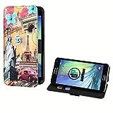 deinPhone Samsung Galaxy S5 Mini Kunstleder Flip Case World Sights