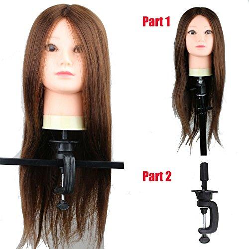 eseewigs professionnel de coiffure salon formation Tête 100% cheveux synthétiques haute température pratique Mannequin tête avec support perruque tête