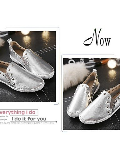 ZQ gyht Scarpe Donna Di pelle Plateau Comoda Mocassini Casual Nero/Bianco/Argento , white-us6.5-7 / eu37 / uk4.5-5 / cn37 , white-us6.5-7 / eu37 / uk4.5-5 / cn37 black-us7.5 / eu38 / uk5.5 / cn38